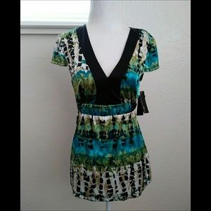 AGB Women's Multicolor Blouse Size Small